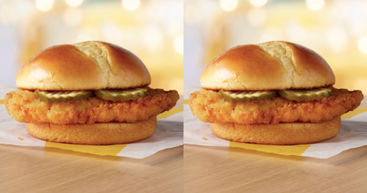 McDonald's Is Testing A New Crispy Chicken Sandwich Topped With Pickles