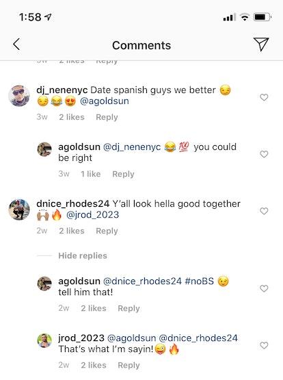 Ashley G. and Jose from Temptation Island Season 2 flirt on Instagram