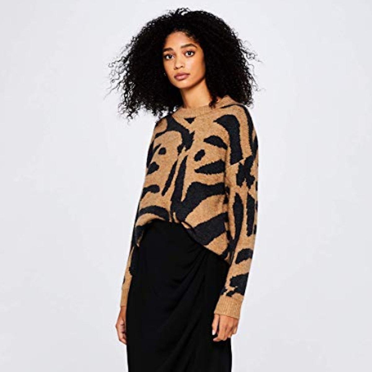 find. Drop Shoulder Tiger Sweater