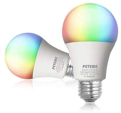 Peteme Smart LED Light Bulb (2-Pack)
