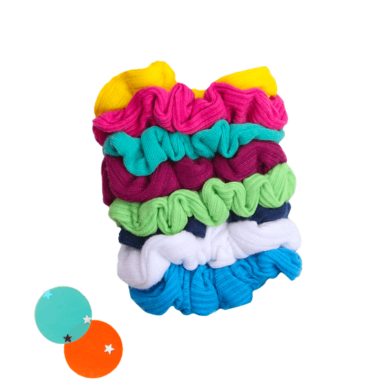 Goody Ouchless Gentle Scrunchies in Neon Lights