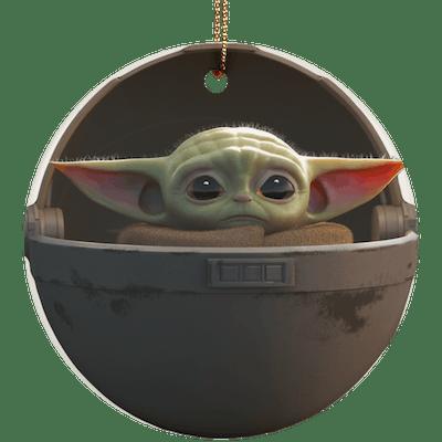Baby Yoda Floating Pod Christmas Tree Ornament