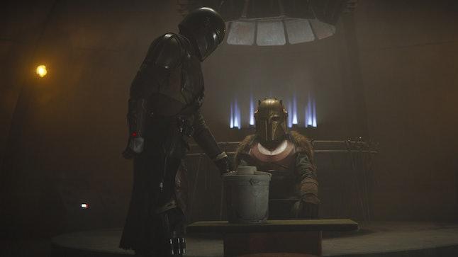 Mando's helmet may come off on The Mandalorian.