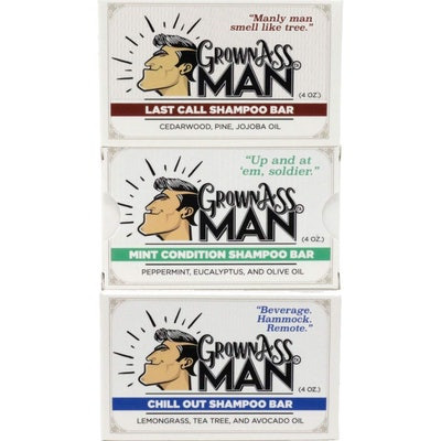 Grown Ass Man Solid Shampoo Bar (3-Pack)