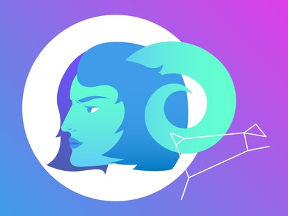 Drawing of the Aries horoscope sign.