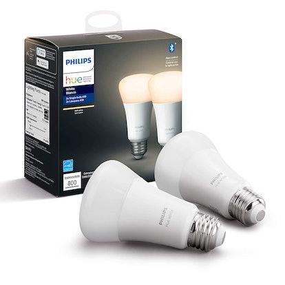 Philips Hue White A19 LED Smart Bulb (2-Pack)