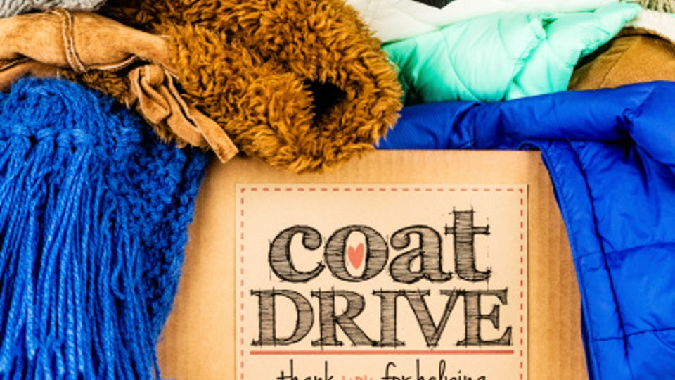 Where to donate winter coats; box of coats collected for coat drive