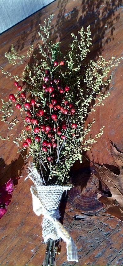 Prim Rose Hip Dried Flower Bouquet