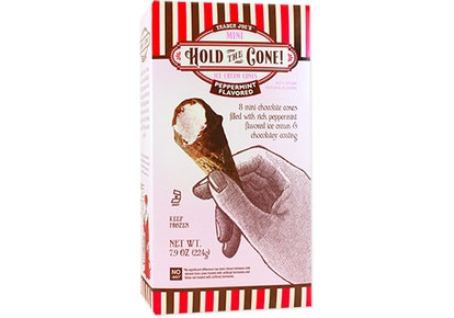 Trader Joe's Hold the Cone! Mini Peppermint Ice Cream Cones combine all your favorite holiday flavors into one.
