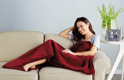 Sunbeam Fleece Heated Electric Throw Blanket