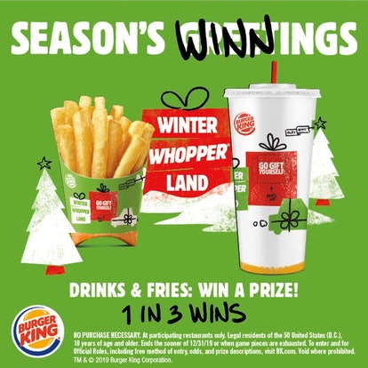 Here's How To Play Burger King's Winter Whopperland Game for a one-in-three chance of winning a priz...