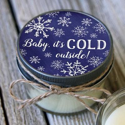 Snowflake Favor Set of 12 – 4 oz Candles