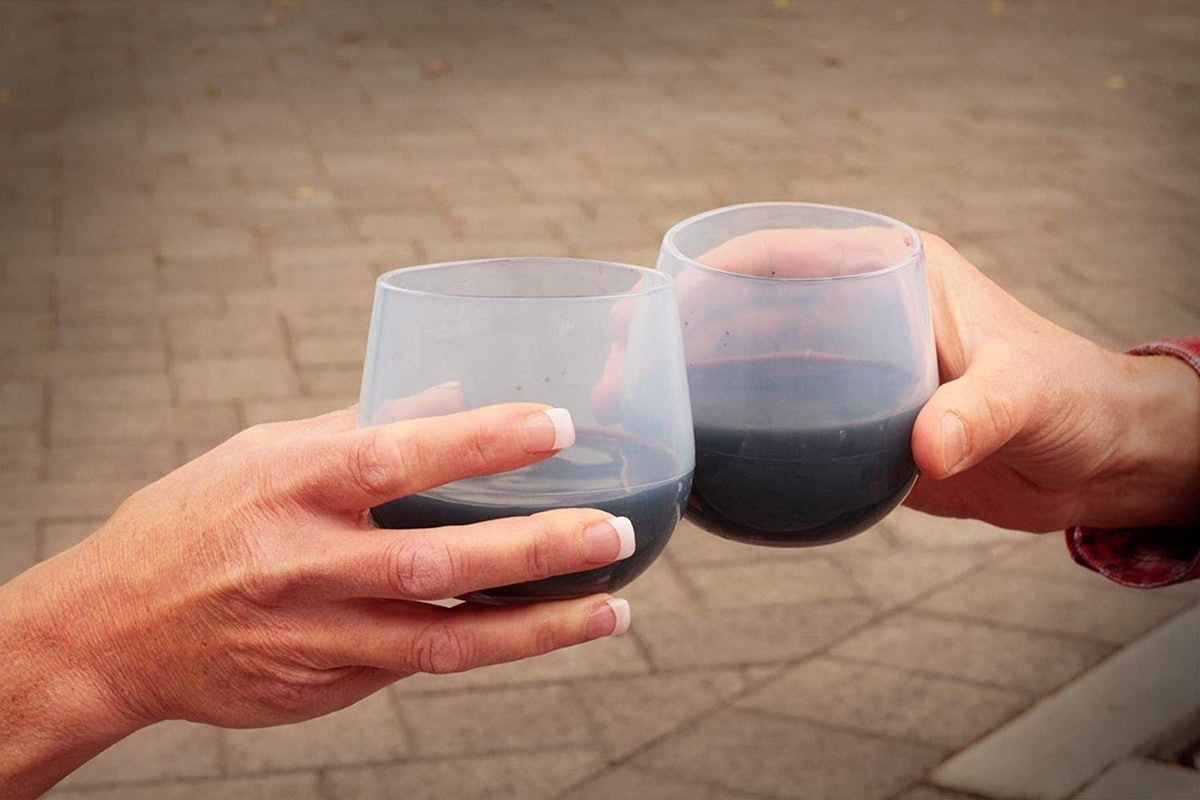 Silipint Unbreakable Silicone Wine Glasses (Set of 2)