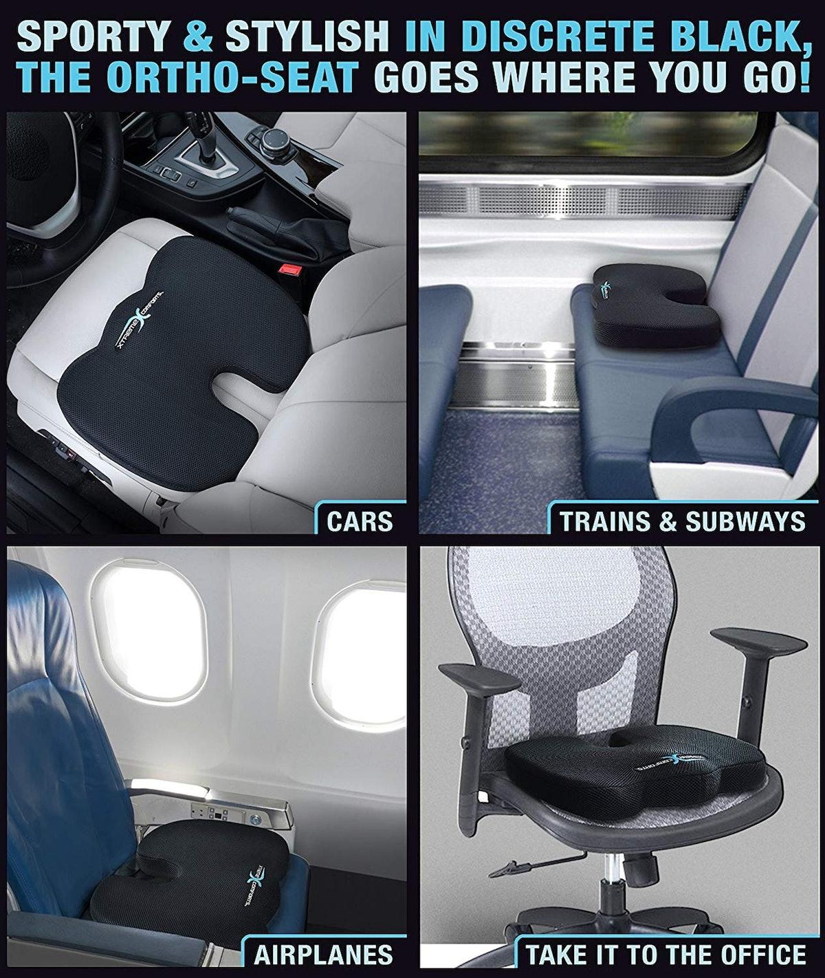 Xtreme Comforts Orthopedic Memory Foam Seat Cushion