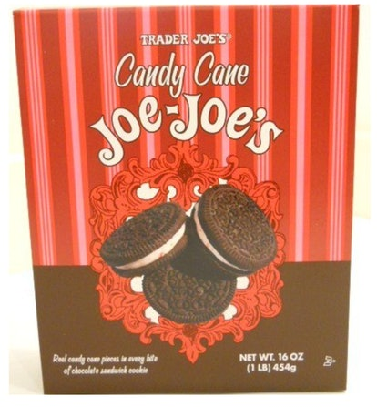 Trader Joe's Candy Cane Joe-Joe's are a classic holiday treat.