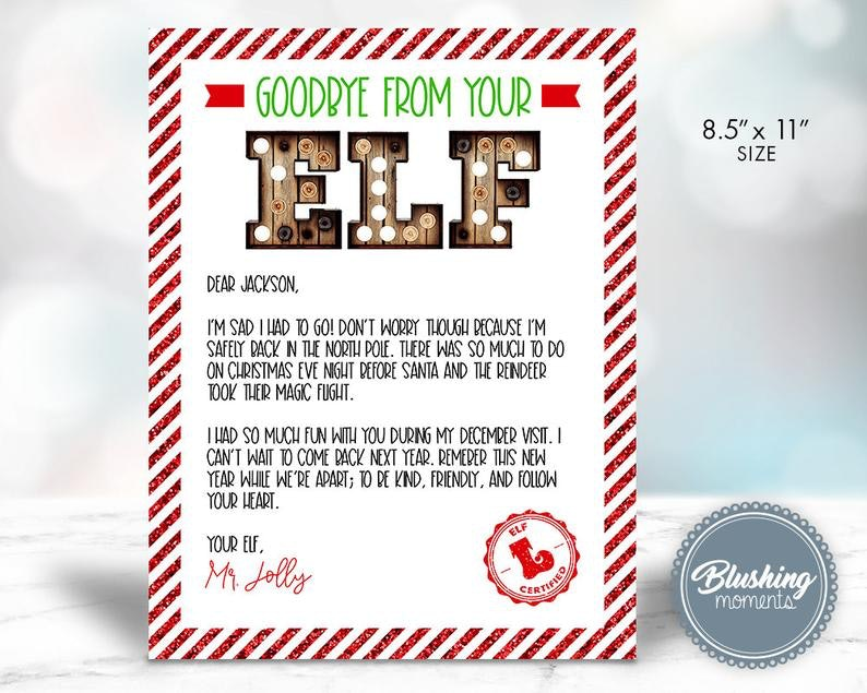 11 Elf On The Shelf Christmas Eve Letter Ideas For Parents With Holiday Writer S Block