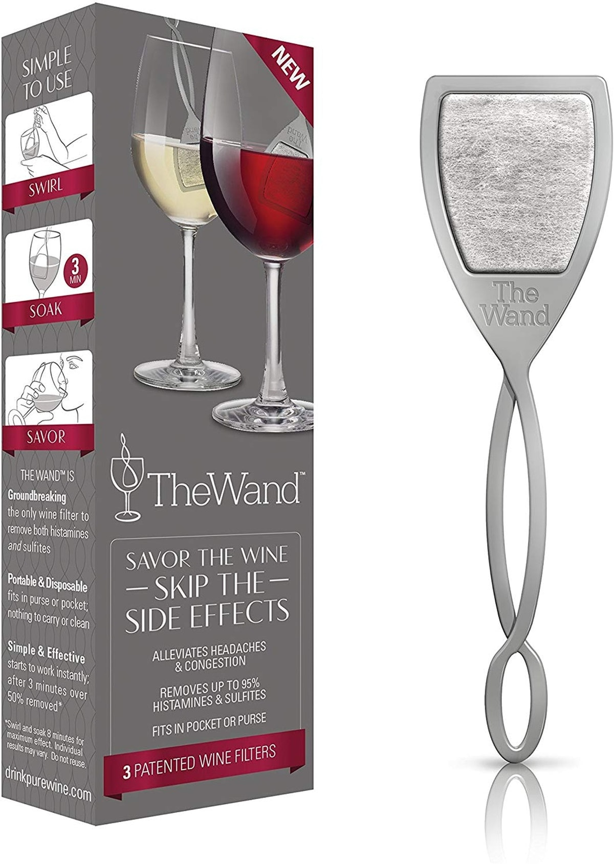 The Wand Wine Filter by PureWine (3-Pack)