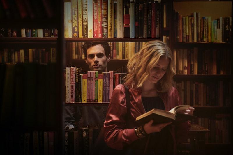 Penn Badgley as Joe and Elizabeth Lail as Becks in 'You' Season 1
