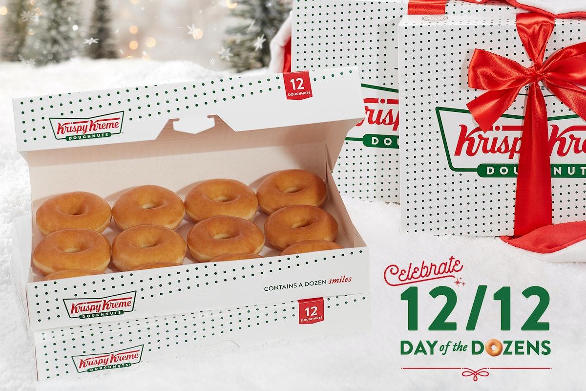 Krispy Kreme's 2019 BOGO For $1 Dozen Deal includes Holiday Doughnuts.