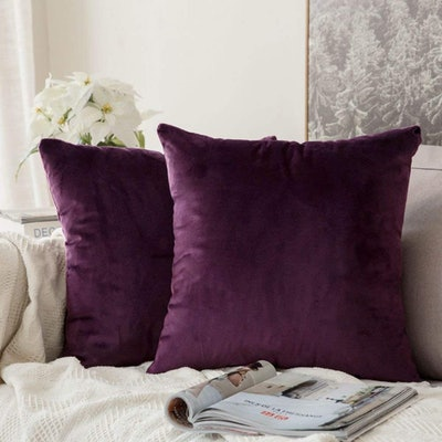 MIULEE Velvet Pillow Covers (Set Of 2)