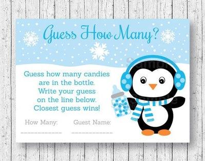 Cute Penguin Guess How Many Game