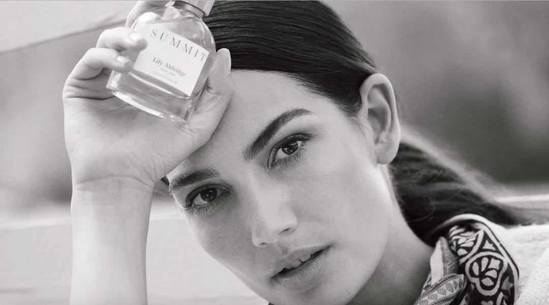 Lily Aldridge Parums' new fragrance, Summit, is a warm, cozy scent