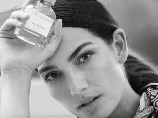 Lily Aldridge Parums' new fragrance, Summit, is a warm, cozy scent
