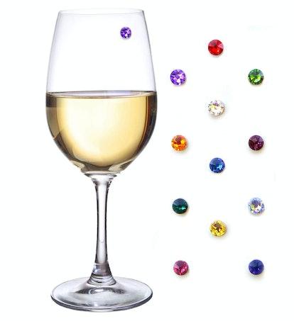 Swarovski Crystal Magnetic Wine Glass Charms Set