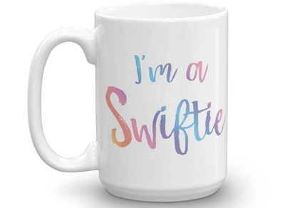 CazbahDesign - I'm a Swiftie Mug - Rainbow Swiftie Mug - Swiftie - Taylor Team - Swift Fan Gift