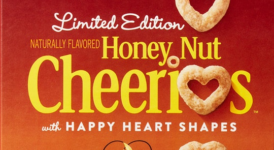 limited edition Heart shaped honey nut cheerios
