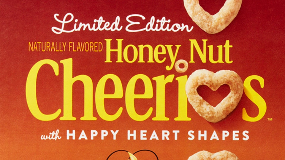 limited edition Heart shaped honey nut cheerios