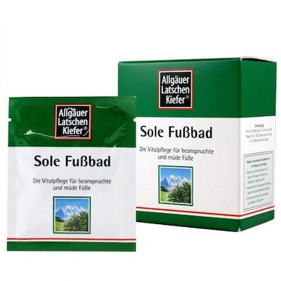 Allgäuer LatscehnKiefer Sole FussBad Mineral Foot Bath Salts (10 Packets)