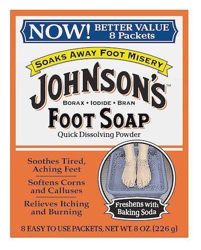 Johnson's Foot Soap Powder (8 Packets)