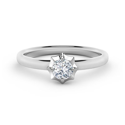 The Forevermark Alchemy Collection by Jade Trau Solitaire Stackable Diamond Ring