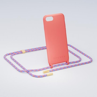 Living Coral Silicon Case + Rope