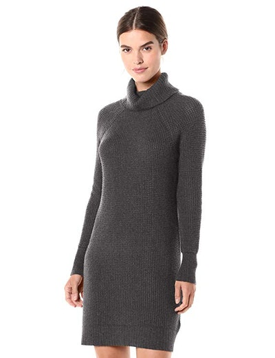 Daily Ritual Wool Blend Turtleneck Sweater Dress