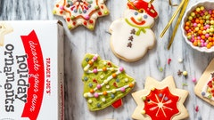 Trader Joe's has a decorate your own holiday ornament cookie kit perfect for the holiday season.