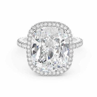 Exceptional Diamond Cushion Halo Ring