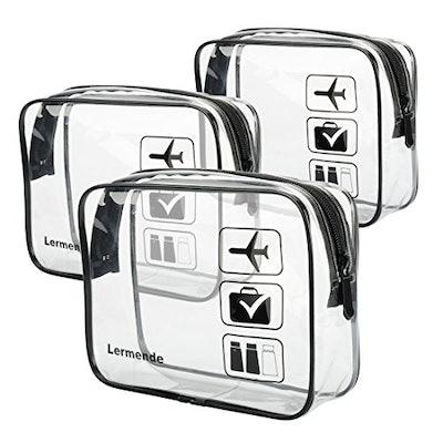Lermende TSA Toiletry Bag (3-Piece Set)