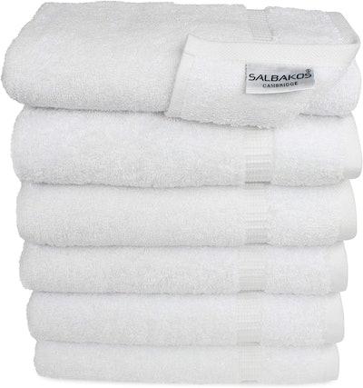 SALBAKOS Turkish Cotton Towels (6-Pack)