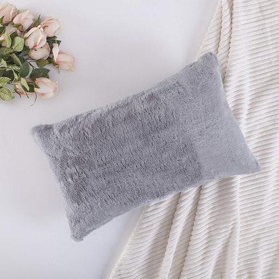Home Brilliant Faux Fur Pillow Cover