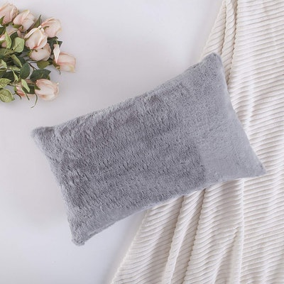Home Brilliant Faux Fur Pillow Cover