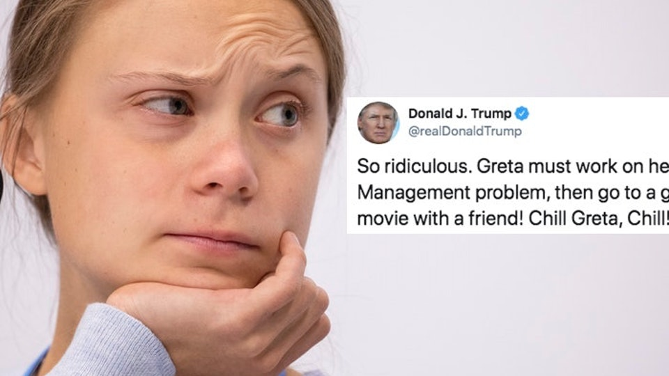 Greta Thunberg responded to Trump mocking her TIME cover in the best way possible.
