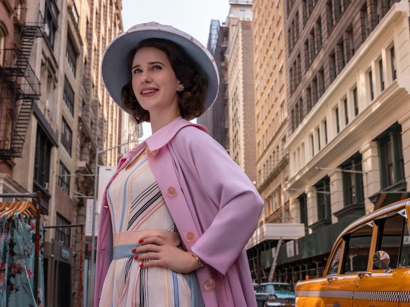 Amazon Prime Studios renewed The Marvelous Mrs. Maisel For Season 4. (Pictured: Rachel Brosnahan, wh...