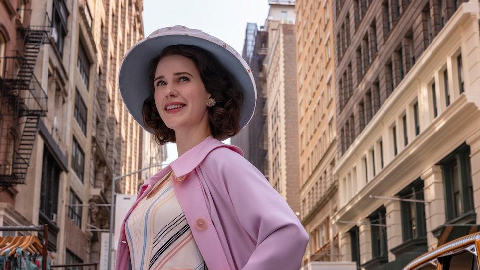 Amazon Prime Studios renewed The Marvelous Mrs. Maisel For Season 4. (Pictured: Rachel Brosnahan, who plays Midge Maisel.)