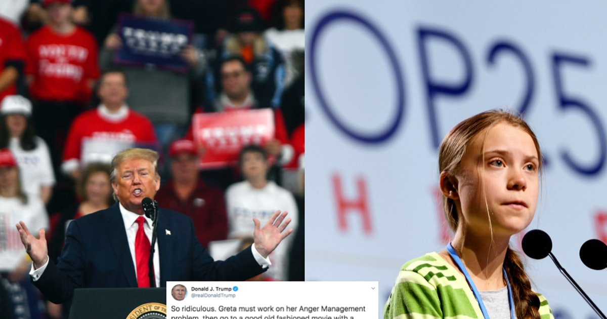 Donald Trump's Tweet About Greta Thunberg & 'TIME' Is Getting Roasted For Hypocrisy