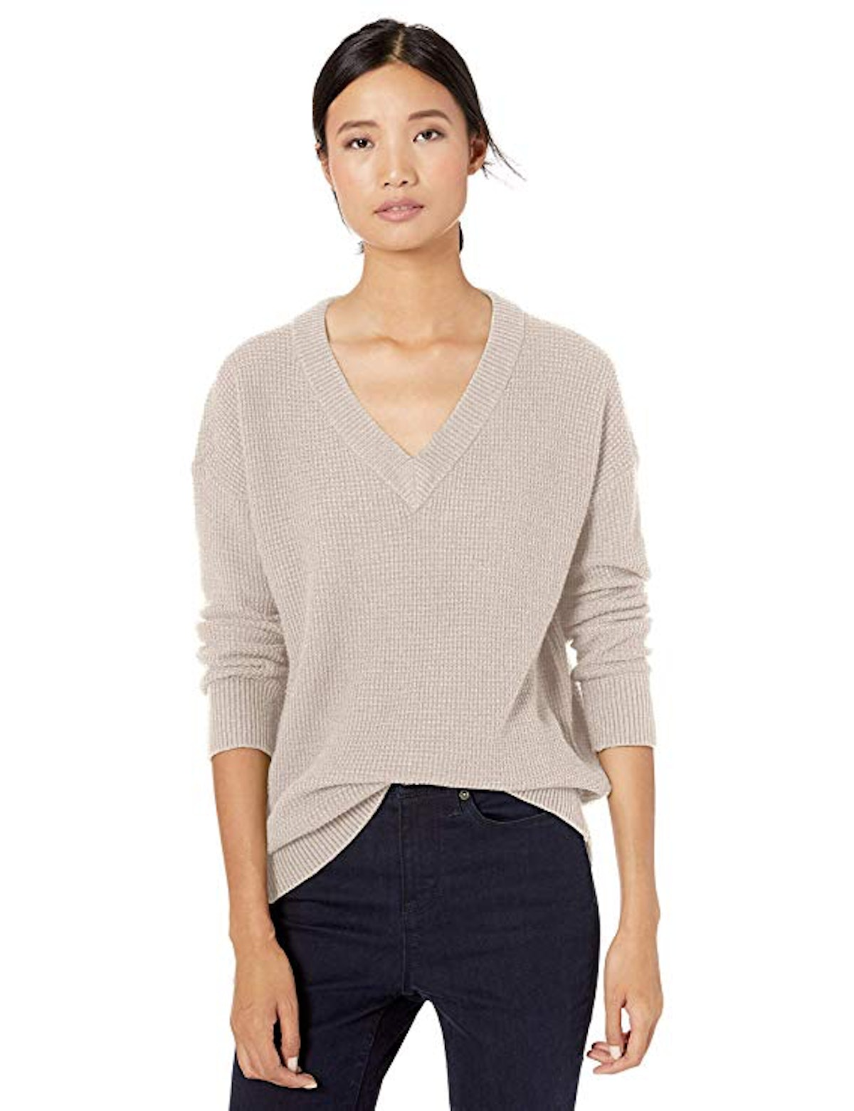 Goodthreads Wool Blend Thermal Stitch Sweater