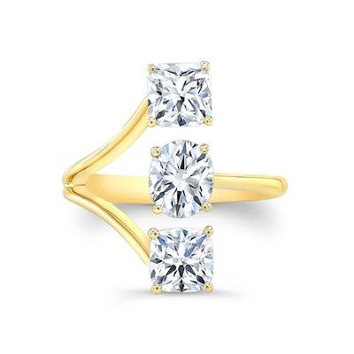 Black Label Diamond Three-Stone Ring