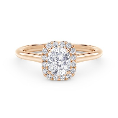 Center of My Universe Cushion Halo Engagement Ring