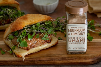 Add your favorite seasoning like Trader Joe's umami mushroom seasoning blend to spice up your favorite frozen meal.